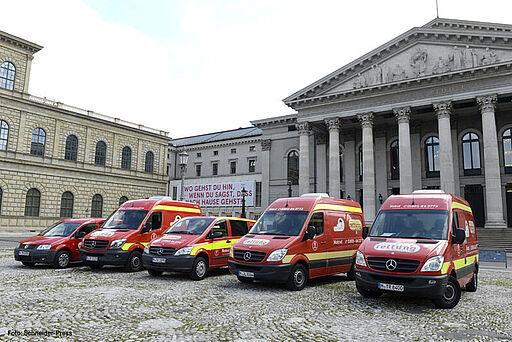 Ambulanzfahrzeuge der aktion tier Tierrettung München e.V.
