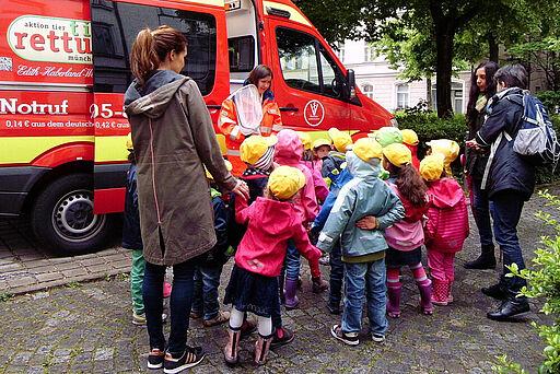 Tierrettung München beim Schulbesuch