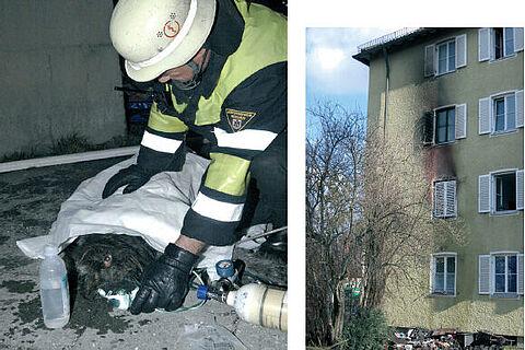 Rauchvergiftung nach Wohnungsbrand