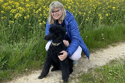 Dr. Evelyne Menges mit Chiara Mia.