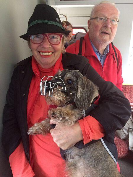 Frau Welk und Herr Ahlborn, Organisator der (Hunde)Reisen und Wanderungen.