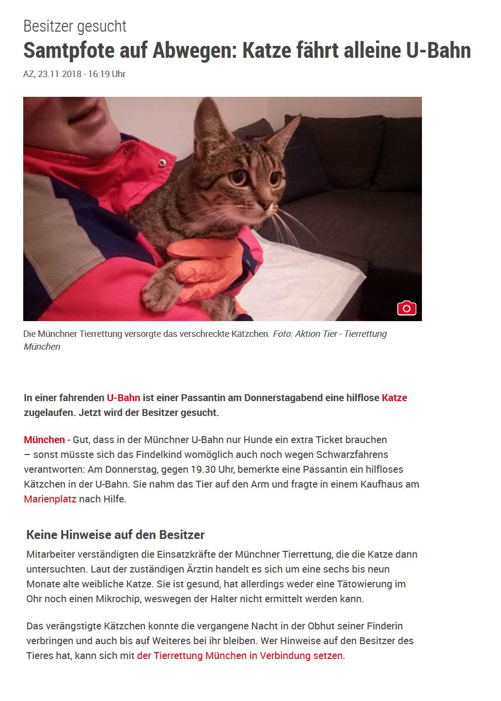 Archiv Pressespiegel Aktion Tier Tierrettung München Ev